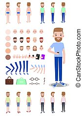 Character Construction Set Vector Illustration