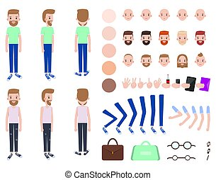 Character Constructor Male Vector Illustration