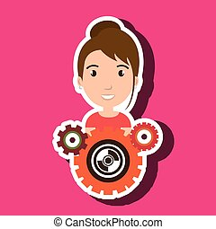 character gears system symbol