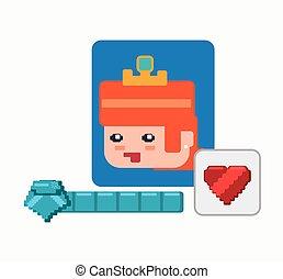 character girl game heart life