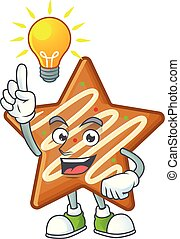 Character have an idea in the star cookies cartoon