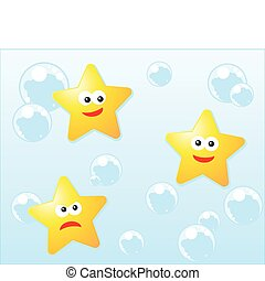 Character illustration of stars in vector format
