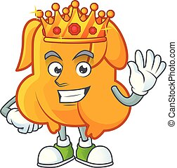 Character king in the fried chicken cartoon