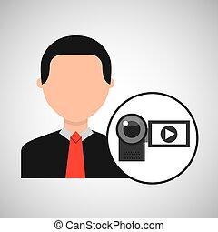 character man digital video camera media