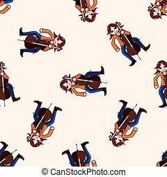 character musician cellist theme elements