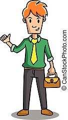 Character of businessman with bag
