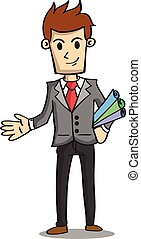 Character of businessman with paper