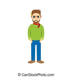 Character of designer , style cartoon ,vector