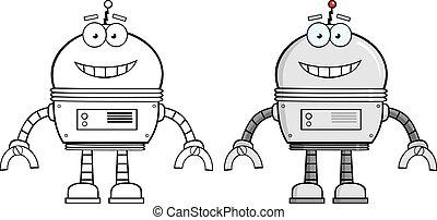 character., robô, cobrança, caricatura