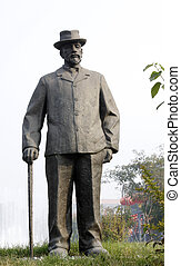 character sculpture in the kailuan national mine park, China.