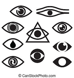 eye - character set - eyes