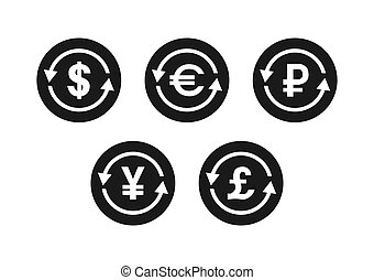 character set of the exchange with currency symbols
