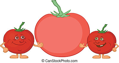 Character tomatoes friends