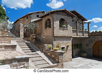 Characteristic house. Spello. Umbria.