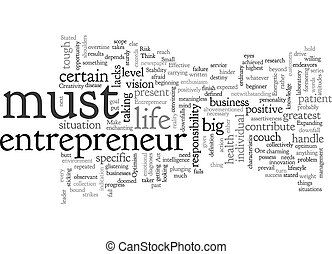 characteristics of an entrepreneur text background wordcloud concept