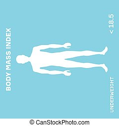 characterizing male silhouette for underweight stage of body mass index