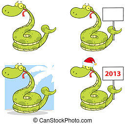 characters-collection, serpiente, mascota