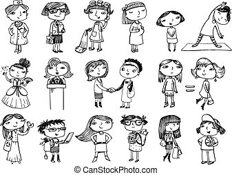 characters., mulheres