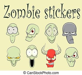 Characters of funny zombies illustration