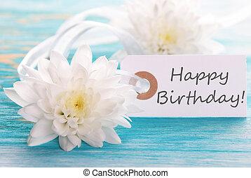 charakterizovat, s, happy birthday