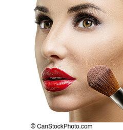 charakteryzacja, closeup., makeup.