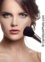 charakteryzacja, makeup., twarz
