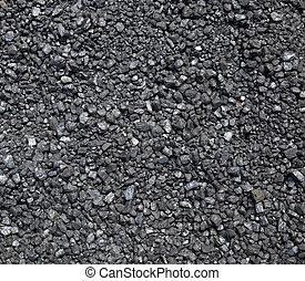 charbon, écrasé