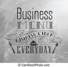 charbon, déjeuner, business
