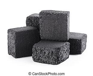 charbon de bois, cubes