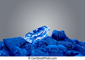 charbon, diamant, tas