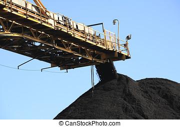 charbon, tapis roulant