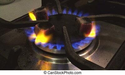 charbons, brûlé, hookah.