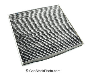 charcoal air filter, isolated on white