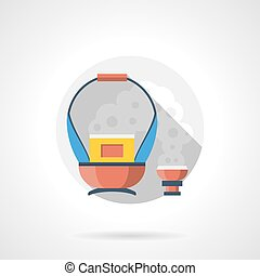 Charcoal basket color detailed vector icon - Abstract...