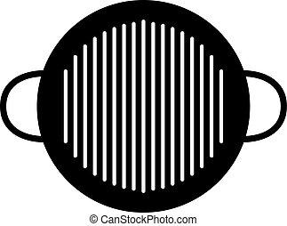 Charcoal BBQ pan