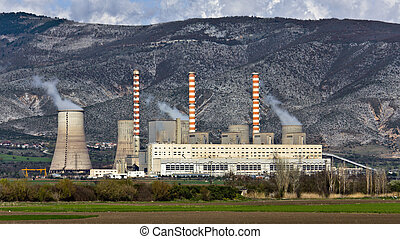 Charcoal electric power plant at Greece