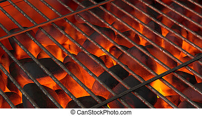 Charcoal Fire And Grid