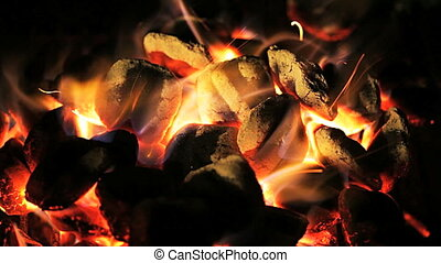 Charcoal fire