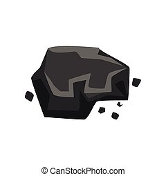 Charcoal, geological industry element vector Illustration on a white background