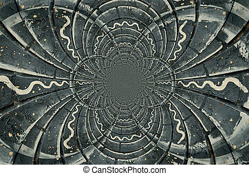 Charcoal grey design - A kaleidoscope pattern of varying ...