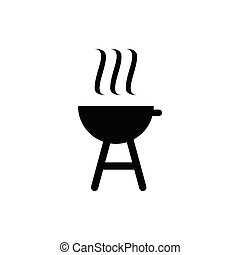 charcoal grill barbeque icon design template vector ...