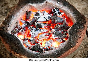 charcoal stove