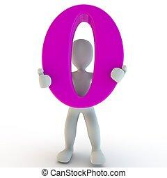 charcter, rózsaszínű, birtok, szám 0, emberi, 3