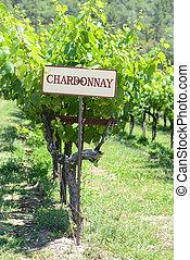 Chardonnay Grapes Sign