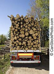 chargé, bois construction