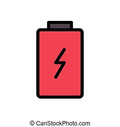 charge  flat color icon