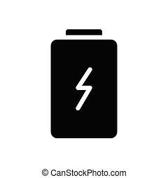 charge  glyph flat icon