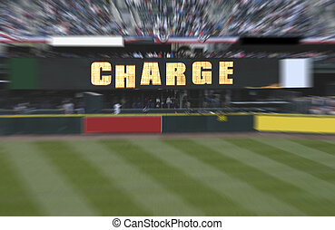 Charge - abstract billboard