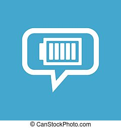 Charged battery message icon