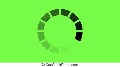 chargement, -, arrière-plan., animation, vert, cercle, icône